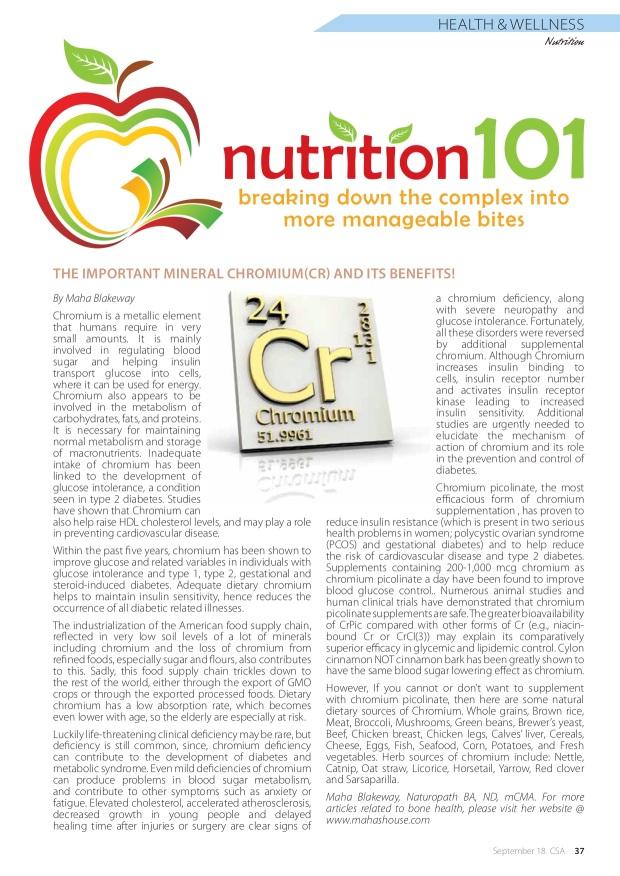 Maha-Nutrition101 Chromium